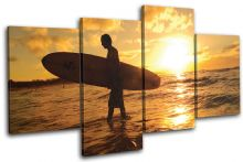 Surfer Sunset Seascape - 13-0962(00B)-MP04-LO